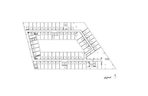 Executive level floor plan - © Skidmore, Owings & Merrill