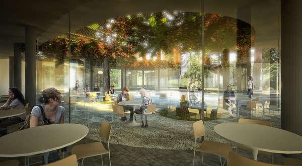 3d Wallpaper Decorating Ideas Archshowcase Green Pavilion Restaurant In Zagreb Croatia
