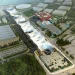 Bird's View of the EXPO-AXIS Besides the Chinese Pavillon