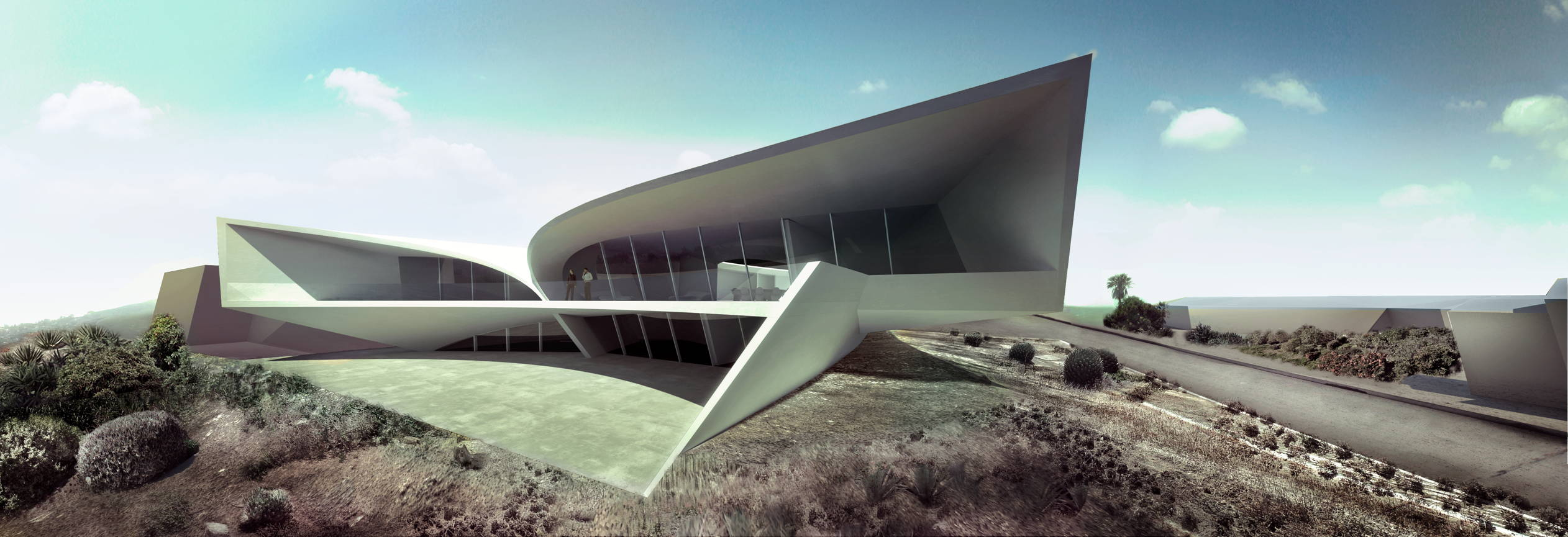California residence in san diego by zaha hadid architects for Architecture zaha hadid