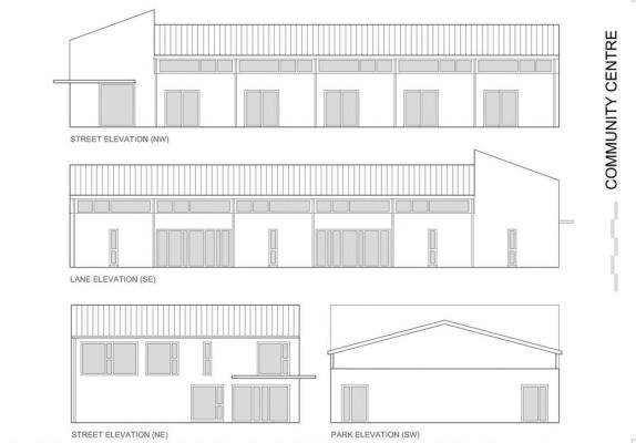 Community Centre Elevations
