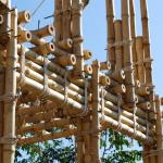 Corner detail of bamboo structure (Photo: Roswag Architekten)