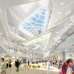Interior View of Retail (Image Courtesy SOM)