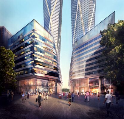 Exterior View (Credit Foster + Partners)