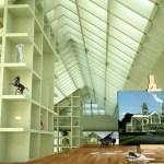 Spröjs Mansion interior of loft level