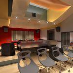 Back- Rendering of Control Room of Berklee Valencia