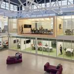 Wood Box and Translucent Conference Rooms