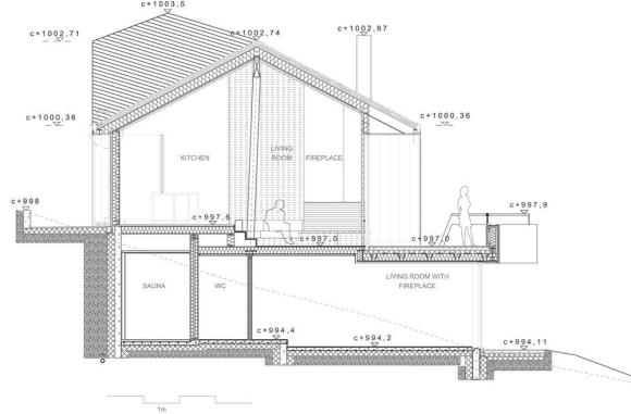 Twisted Cabin-Drawing Section B : Image Courtesy © JVA