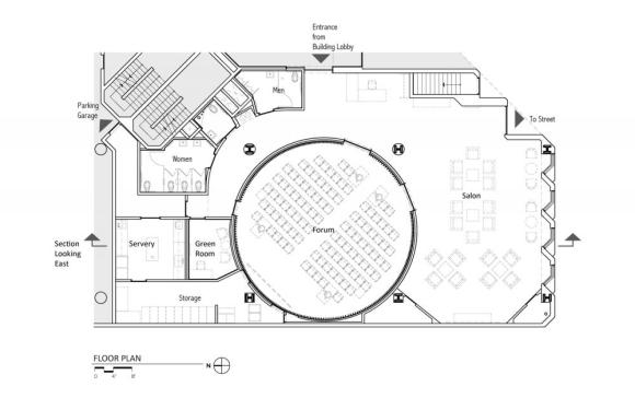 Floor Plan : Image Courtesy Marcy Wong Donn Logan Architects