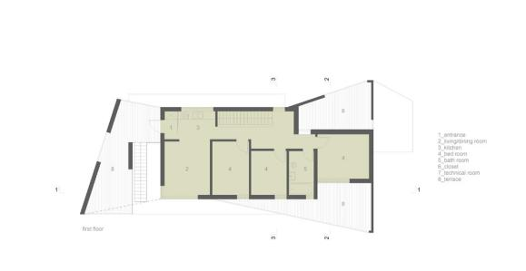 First floor : Image Courtesy Donner Sorcinelli Architecture