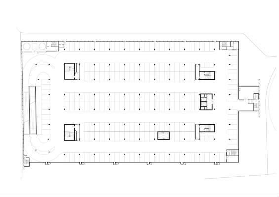 Basement Underground Garage Plan : Image Courtesy Rene Schmid Architekten