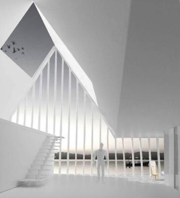 Model-Interior : Image Courtesy paul dieterlen architecture+estudio ruiz boluda
