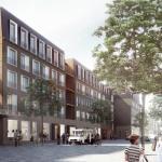 Street view : Image Courtesy Henning Larsen Architects