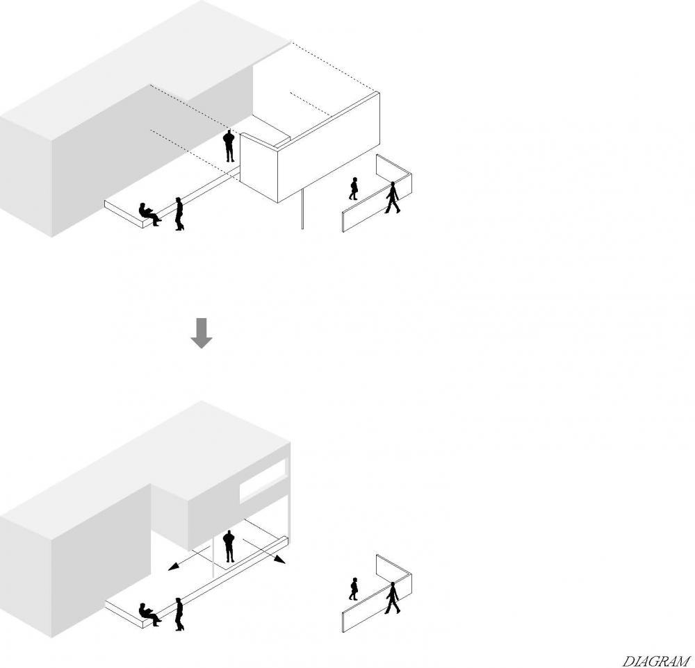diagram image courtesy naoi architecture design office architects sliding door office