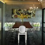Dining Room with daylighting panel : Image Courtesy © Lin Ho