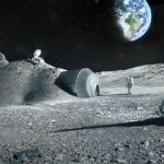 Lunar outpost near the moon's south pole - (c) ESA & Foster + Partners