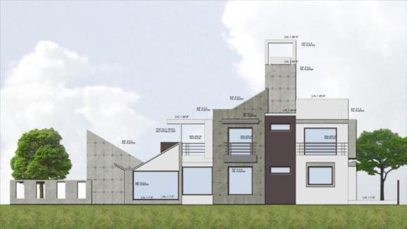 Elevation : Image Courtesy Vipul Patel Architects (VPA)