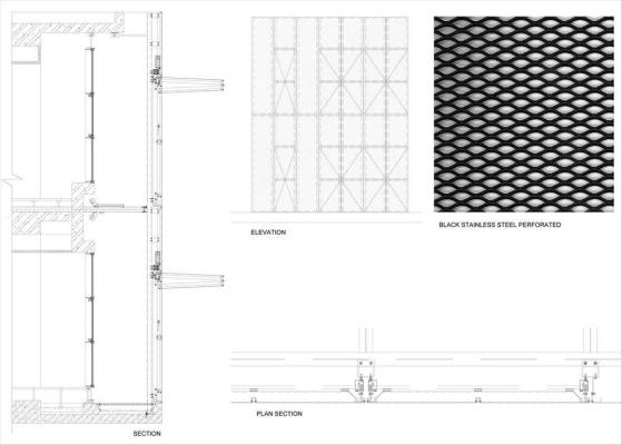 Facade details : Image Courtesy Eraclis Papachristou – Architects