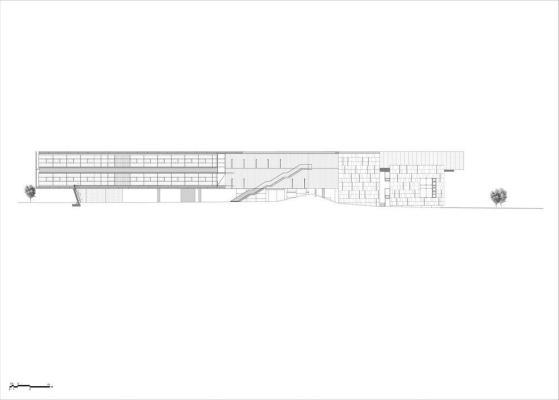 North elevation : Image Courtesy Eraclis Papachristou – Architects