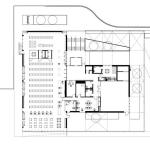 Building Section and Floor Plan of Port Credit Library : Image courtesy RDH Architects