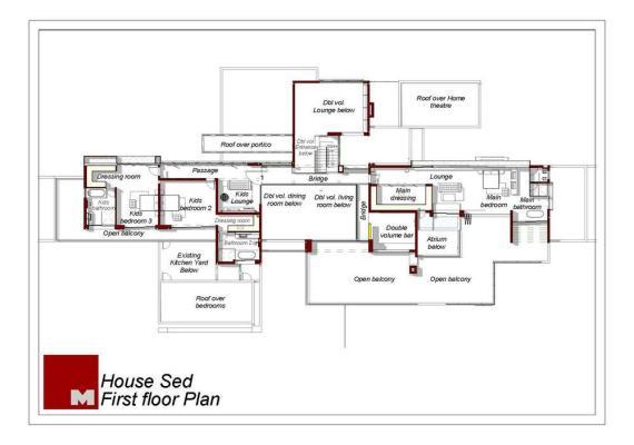First Floor Plan : Image courtesy Nico Van Der Meulen Architects