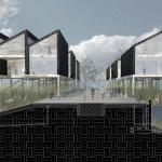 Image Courtesy ©  The Open Workshop, Perspective of raised housing street