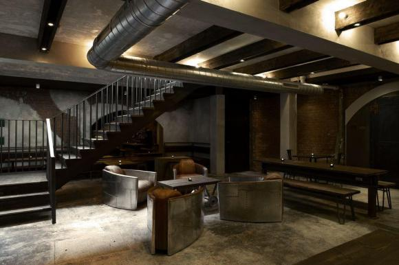 Overall view of the basement bar area, Image Courtesy © Louise Melchior