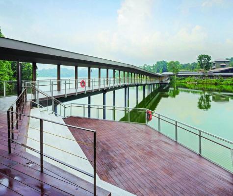 The 165m‐long bridge over Upper Seletar Reservoir, Image Courtesy © DP ARCHITECTS