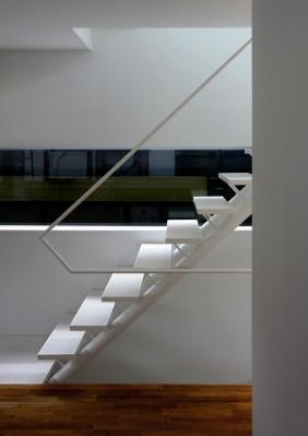 Stair and horizontal panorama ribbon window, Image Courtesy © Shinsuke Kera / Urban Arts