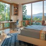 Study area cantilevered over the garage, with Murphy bed and views to the mountains, Image Courtesy © Carlton Architecture + DesignBuild