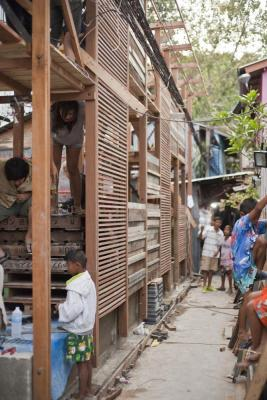 Image Courtesy © TYIN tegnestue Architects, Busy street during the construction period.