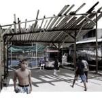 Image Courtesy © TYIN tegnestue Architects, Detalj av strukturen på plass. Prosess ekprementering.