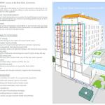 Overview of Bud Clark Common's sustainable features and innovations. - Photo Credit: Holst Architecture