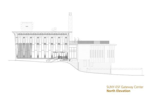 North Elevation, Image Courtesy © Architerra Inc