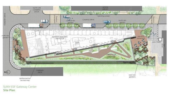Site Plan, Image Courtesy © Architerra Inc