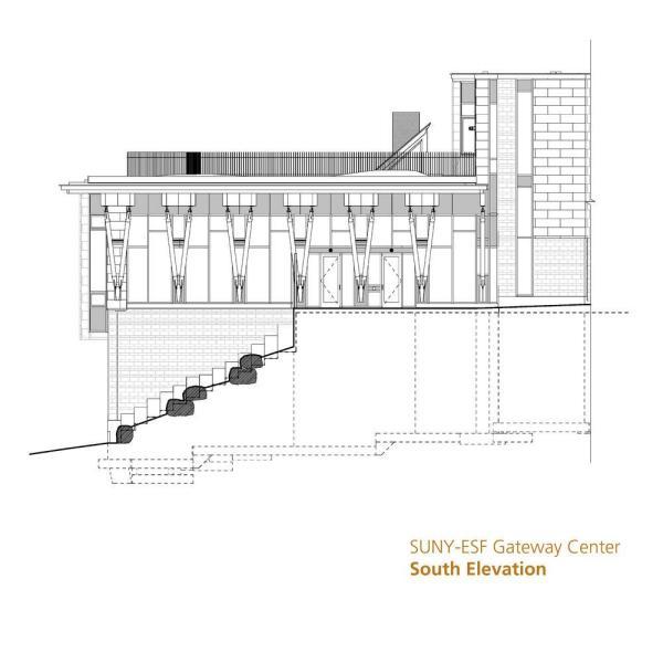 South Elevation,Image Courtesy © Architerra Inc