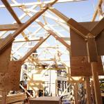 built up framework, Image Courtesy © Hiroyuki Shinozaki Architects