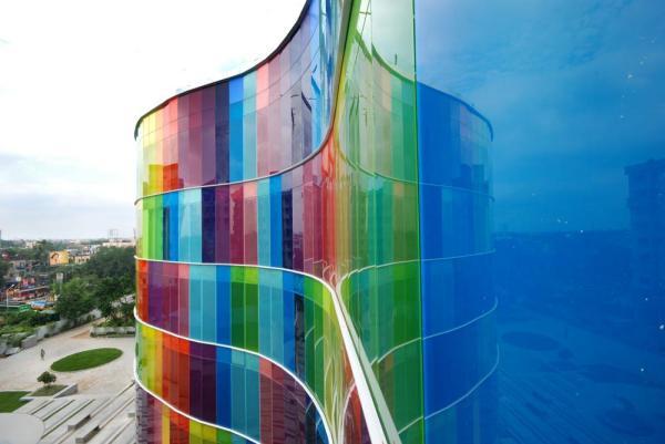 The Chromatic Glass Façade, Image Courtesy © ABIN DESIGN STUDIO
