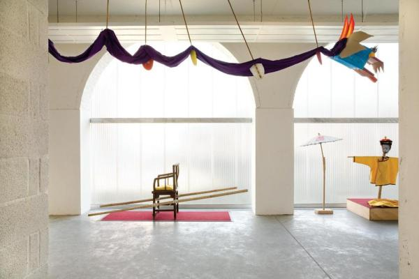 The interior at the multipurpose entrance space,Image Courtesy © Ilse Liekens