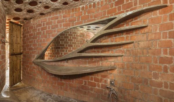 Image Courtesy © iSTUDIO architecture, Basin and mirror unit in concrete