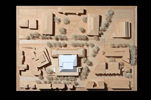 Site wood model, Image Courtesy © RPBW - ph. Stefano Goldberg - Publifoto