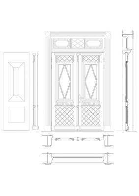 Detail. Original door adaptation for renovation, Image Courtesy © Zaigas Gailes Birojs