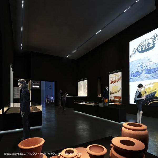 Main exhibition space ,Image Courtesy © SPARCH SAKELLARIDOU/PAPANIKOLAOU ARCHITECTS