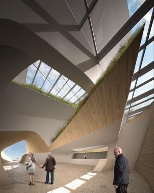View of Atrium From North Entry, Image Courtesy © PLUS-SUM Studio