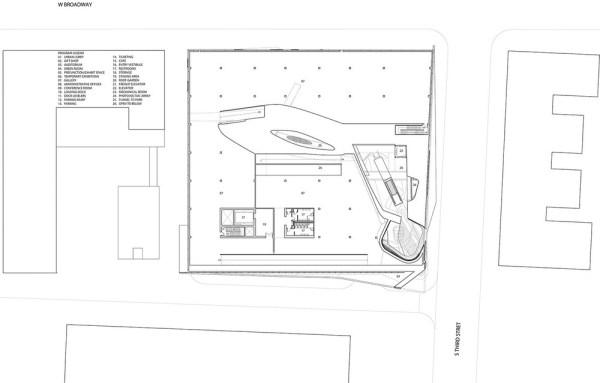 Plan level 02 - Atrium and Galleries, Image Courtesy © PLUS-SUM Studio