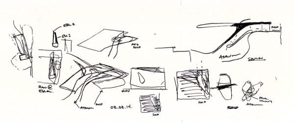 Sketch 06_Atrium relationship to roof terrace and circulation, Image Courtesy © PLUS-SUM Studio