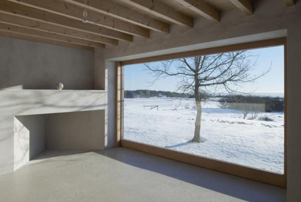 Grandmother's room. Built-in box bed of waxed pine plywood, Image Courtesy © Åke E: son Lindman