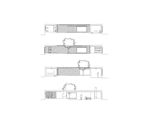 Sections , Image Courtesy © Tham and Videgård Arkitekter