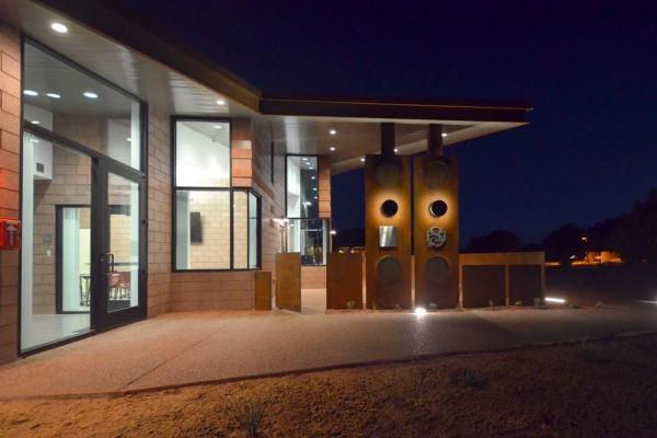 Community Patio + Trail Night, Image Courtesy © LEA Architects