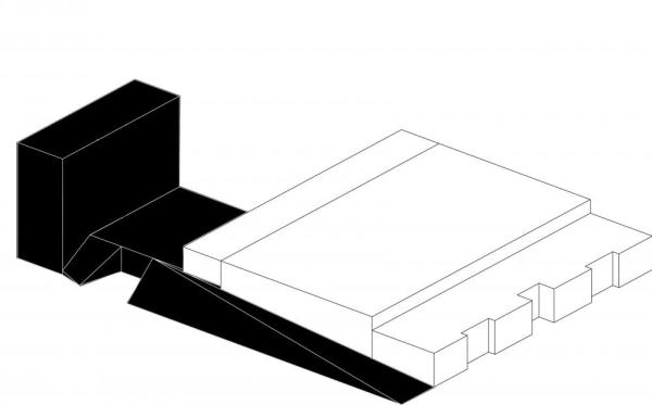Axonometry showing the link between existing and new structure, Image Courtesy © LABEL ARCHITECTURE